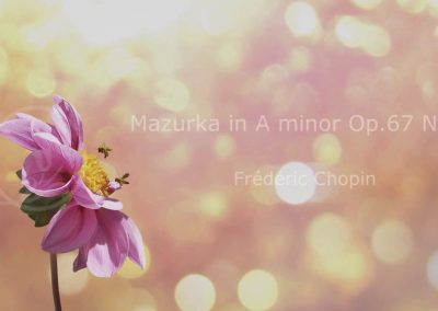 Mazurka in A minor Op.67 No.4 – Frederic Chopin